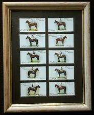 Horse Racing Cigarette Cards Framed