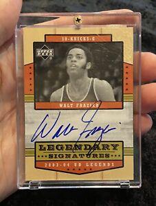 2003-04 Upper Deck Legends Legendary Signatures Walt Frazier AUTO Autograph Rare