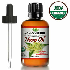 USDA Certified Organic Neem Oil Pure Cold Press, Unrefined for Skin care, Hair C