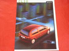 RENAULT Clio II Typ B 1.2 RN RT RXE Initiale SI 16V Prospekt von 1999