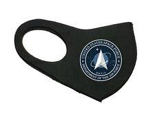 NEW UNITED STATES SPACE FORCE UNISEX FACE MASK BLACK WASHABLE STRETCHABLE MASK