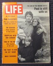 1969 Nov 7 LIFE Magazine VG 4.0 Paul McCartney  / Beatles
