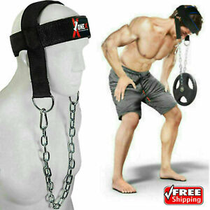 Head Harness Dipping Weight lifting Neck Training Muscles Exercise GYM Chain 1X