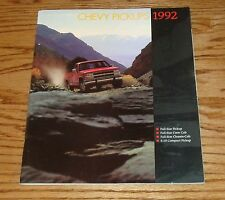 Original 1992 Chevrolet Truck Pickups Sales Brochure 92 Chevy Full Size S-10