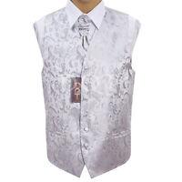 Homme Argent Passion Gilet Mariage Taille 91,4 Cm - 127 Cm Cravate De Choix
