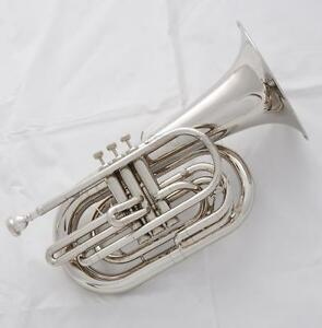 newest Model Professional Silver Nickel Marching Baritone Bb Horn With Case