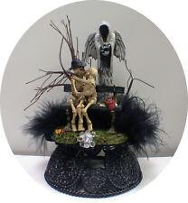 Skeleton Angel Of Death Reaper Halloween Wedding Cake Topper Groom Top Shower