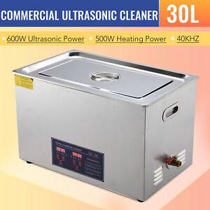 PREENEX Stainless Steel 30L Liter Industry Ultrasonic Cleaner Heater Timer