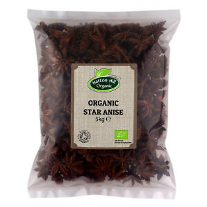 Organic Star Anise Whole 5kg Certified Organic