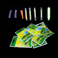 50x Fishing Fluorescent Lightstick Night Light Float Clip Glow in Dark Stick