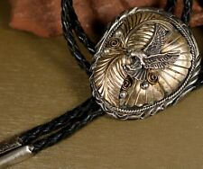 Signed sterling Bolo tie in the shape of a flying eagle