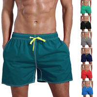 Men Summer Quick Dry Swimming Trousers Shorts Pocket Beach Shorts Plus Size