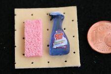 Glasreiniger Set Miniatur 1:12 Puppenstube Diorama Setzkasten Puppenhaus 1:6