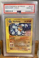 2003 Pokemon Skyridge #H15 Machamp - Holo - Skyridge GEM MT PSA 10