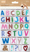 Docrafts Boofle fabric style alpha stamp set of 31 pieces 22mm alphabet letters