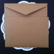 100 Quality Envelopes Kraft Craft Brown C5 120GSM Thick Fits 1/2 A4 (162x229mm)