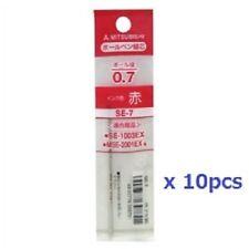 MITSUBISHI UNI SE-7 Refill 0.7mm Red ink For Ballpoint Pen#10 pcs SET