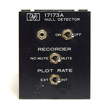 Hewlett Packard HP 17173A Null Detector Einschub / Plug-In f. XT & XY Schreiber