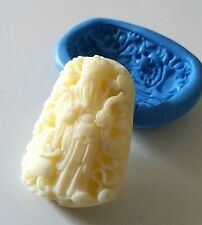 Dios de la riqueza de Silicona Molde espiritual Glaseado fabricación de joyas Fimo Arcilla Polimérica
