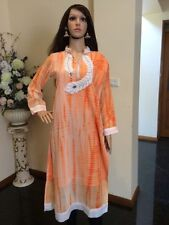 "40"" M-L Kurti Jeans Top Boho Tunic Kaftan Bollywood Indian Kurta Peach K35"