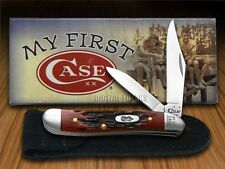 CASE XX Jigged Old Red Bone My First Case Peanut Stainless Pocket Knives Knife