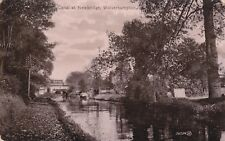 WOLVERHAMPTON - CANAL AT NEWBRIDGE B&W POSTCARD (1913)