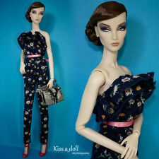 kissadoll clothes fr2 poppy parker Fashion Royalty Wrap chest floral long pants