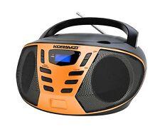 KORAMZI CD55-BKO Portable CD Boombox with AM/FM Radio, Top Loading CD Player