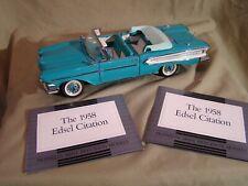 Franklin Mint 1958 Edsel Citation Turquoise Convertible  MINT