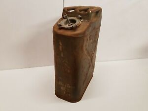 Atlantic Oil WWII 1945 Jerry Can USA Wheeling Gas Willys Original Oil Petrol