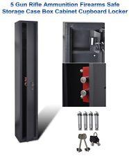 5 Gun Rifle Ammunition Firearms Safe Storage Case Box Cabinet Cupboard Locker