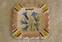 Vintage Vallauris Ashtray Briancon France Hand painted and signed