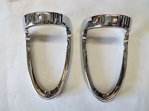 1955 Chevy 55 Chevrolet STAINLESS Steel Tail Light bands NEW ONE PAIR