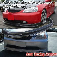 Mu-gen Style Front Bumper Lip (Urethane) Fits 01-03 Honda Civic 2/4dr