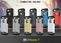 Shockproof Heavy Tough Armor Hybrid Gel Rugged Hard Cover Case For iPhone 7