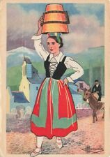 More details for basque art postcard young girl from tardets party costume by charles homualk pj4