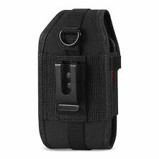 Canvas Pouch Holster for AT&T Microsoft Lumia 950 XL (Fits with Rubber Case on)
