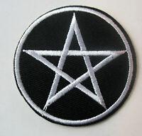 Aufnäher Pentagramm Patch Fünfstern Drudenfuß Pentakel Magie x