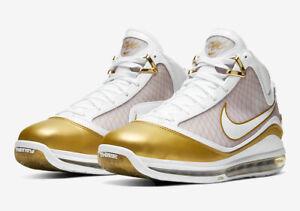 Nike LeBron VII QS China Moon SZ 7.5 White White Metallic Gold CU5646-100