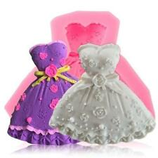 Wedding Princess Dress Silicone Mould Fondant Soap Sugarcraft Cup Cake Mould YW