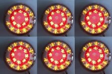 6x 24V LED HAMBURGER REAR TAIL LAMPS LIGHTS FOR TRUCK IVECO RENAULT VOLVO FORD