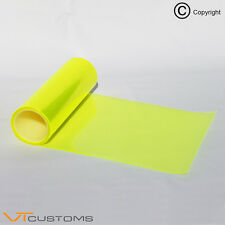 30 x 60cm Fluorescent Yellow Headlight Tint Film Fog Tail Lights Tinting Car