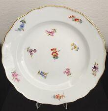 Meissen Gebäck Teller Floral Gold Staffiert 1800 1. Wahl Old Pastry Dish Plates