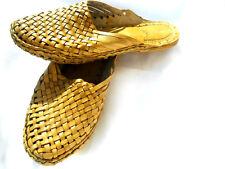 US 8 handmade leather sandal women shoes kolhapuri flip flop ethnic mojari
