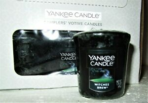 """BOX LOT OF 18 Yankee Candle Halloween """"WITCHES BREW""""~ Patchouli~ Sampler Votives"""