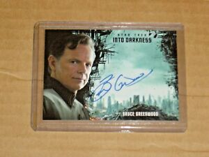 STAR TREK BEYOND MOVIE BRUCE GREENWOOD AS CAPTAIN PIKE AUTOGRAPH INTO DARKNESS