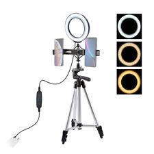 LED Selfie Ring Light Kit Studio Photo Video Dimmable Lamp Tripod Phone Holder