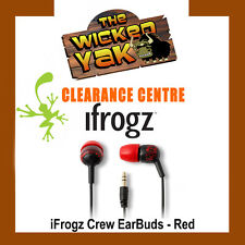 iFrogz EarPollution Crew Graffiti Earbuds for iPod,iPhone,iPad & Android-Red