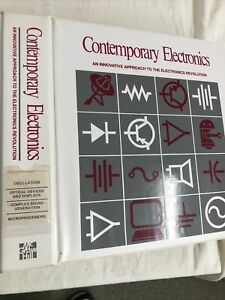 Electronics Book Educational With Cassettes Tapes ,Microprocessors And More