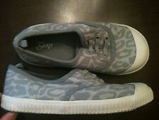 New GAP Sneakers Shoes Animal Leopard Grey Girl 10 toddler